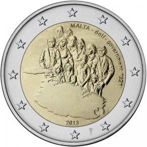 Malta 2 Euro 2013 - 1921 Self Government with Dutch Mintmark