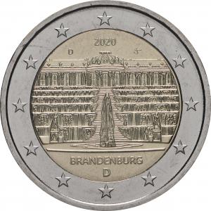 Germany 2 Euro 2020 - Brandenburg - D - COIN ROLL