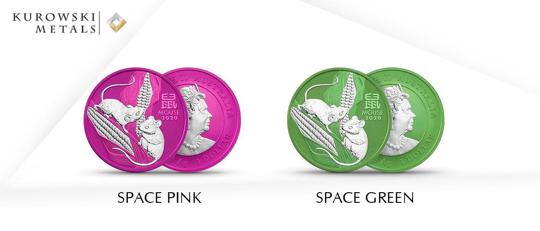 Lunar series space pink i green