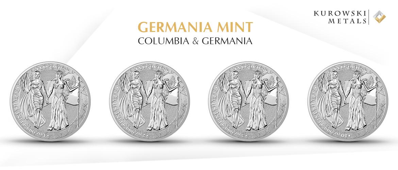 Germania Mint Columbia & Germania 1 oz, 2 oz, 5 oz, 10 oz